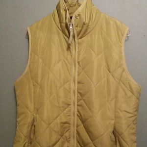 Jane Ashley Women's Quilted Green Vest XL, used